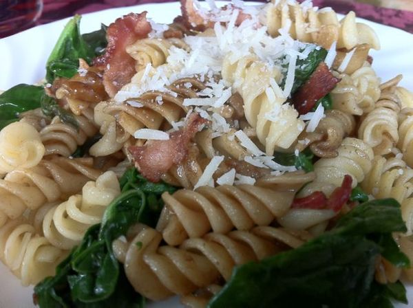 Spinach Bacon Pasta